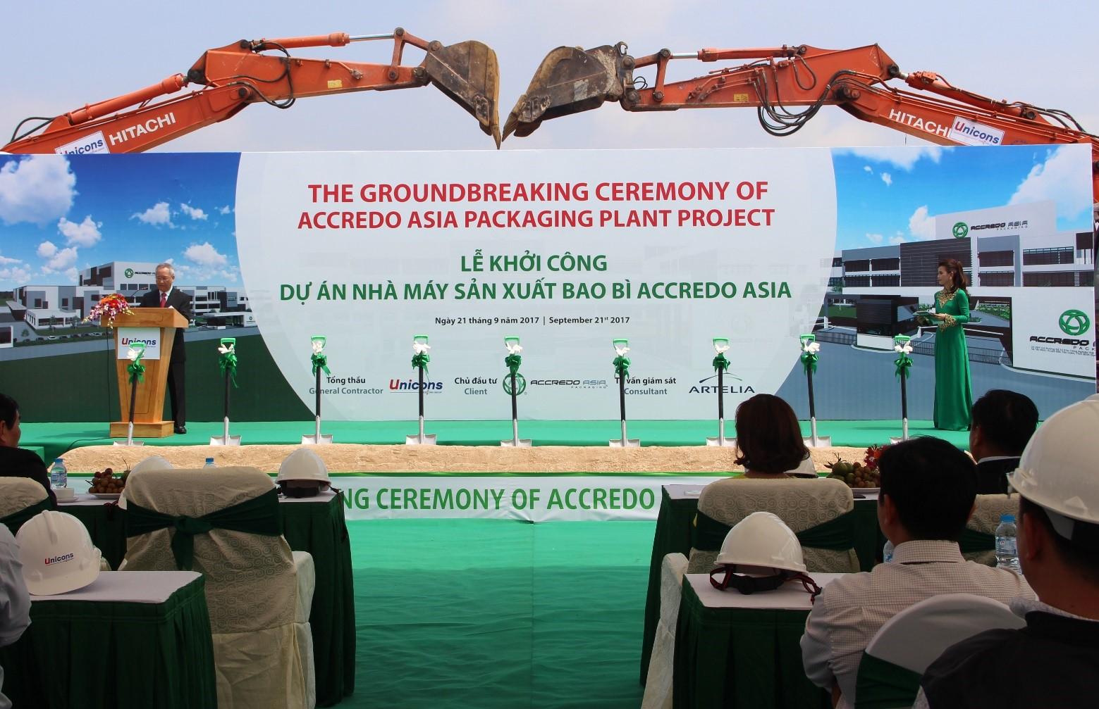 Lễ khởi công dự án Accredo Asia Bình Dương